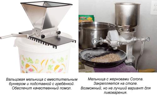 Мельницы для солода